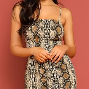 Snakeskin BodyCon Dress